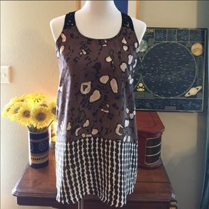❤️5/25 COLLECTIVE CONCEPTS Brown Sleeveless Top